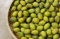 Olive in basket Royalty Free Stock Photo