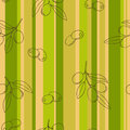 Olive green brown graphic art color striped seamless pattern illustration Royalty Free Stock Photo