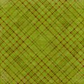 Olive green plaid background Stock Image