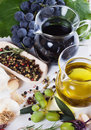 Olive oil and balsamic vinegar Stock Photos