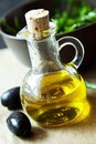 Olive oil bottle Photographie stock libre de droits