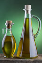 Olive Oil Bottle With Green Sp...
