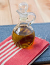 Olive oil in decanter Royalty Free Stock Photography