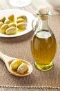 Olive oil hecha en casa tradicional Fotografía de archivo libre de regalías