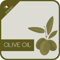 Olive Oil / Label Stock Photo