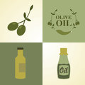Olive oil over colorful background vector illustration Stock Photos