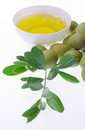 Olive oil representation of italian extra virgin with olives of the south italy Royalty Free Stock Photo