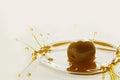 Olive oil splash Royalty Free Stock Photo