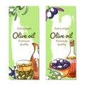 Olive oil hand drawn vector banner set