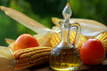 Olive Oil And Vinegar And Frui Stock Photography