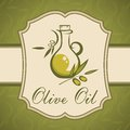Olive oil vintage label this is file of eps format Royalty Free Stock Photos