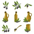 Olive set vector illustration this is file of eps format Royalty Free Stock Images