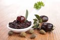 Olive tapenade close up on Royalty Free Stock Photography