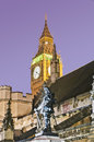 Oliver cromwell statue at london england near the houses of parliament Stock Photo