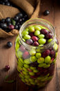 Olives in Brine Royalty Free Stock Images