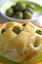 Olives focaccia Royalty Free Stock Photography
