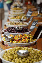 Olives on a French market stall Stock Photography