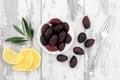 Olives and Lemon Fruit Royalty Free Stock Photo