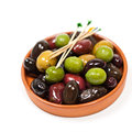 Olives marinated mixed in the bowl Royalty Free Stock Images