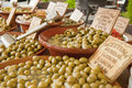 Olives at the market Royalty Free Stock Photos