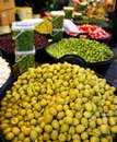 Olives and pickles texture food market perspective Stock Images