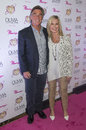 Olivia newton john summer nights las vegas april entertainer and her husband easterling attends the grand opening of her residency Stock Photography