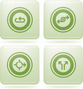 Olivine Square 2D Icons Set: Abstract & Directions Stock Photography