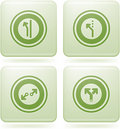 Olivine Square 2D Icons Set: Abstract & Directions Stock Photos