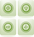 Olivine Square 2D Icons Set: Abstract & Directions Royalty Free Stock Photos