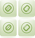 Olivine Square 2D Icons Set: Computer Stuff Stock Photography