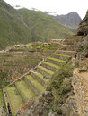 Ollantaytambo, The Inca Fortress, Peru Stock Image