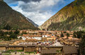 Ollantaytambo village in valle sagrado Stock Photography