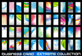 Ollection of corporate business cards background Stock Image