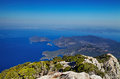 Oludeniz coast fethiye turkey view from babadag mountain very popular place for paragliding Stock Photos