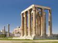 Olympian Zeus temple Royalty Free Stock Photography