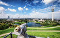 Olympiapark munich germany tv tower in s olympic park germany Royalty Free Stock Images