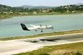Olympic airlines samolotu lądowanie Fotografia Stock