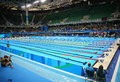 The Olympic Aquatics Center in Rio Olympic Park during Rio 2016 Olympic Games Royalty Free Stock Photo