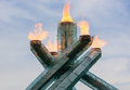 Olympic cauldron vancouver bc canada –november vancouver winter games was re lit on remembrance day on november Royalty Free Stock Images