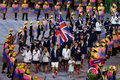 Olympic champion Andy Murray carrying the United Kingdom flag leading the Olympic team Great Britain in Rio 2016 Opening Ceremony