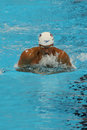 Olympic champion Ryan Lochte of United States competes at the Men's 200m individual medley relay of the Rio 2016 Olympics Royalty Free Stock Photo