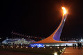 Olympic fire sochi russia february at sochi xxii winter games Royalty Free Stock Image