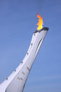 Olympic fire at sochi russia february xxii winter games Royalty Free Stock Image