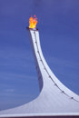 Olympic fire in sochi russia february at xxii winter games Stock Photos