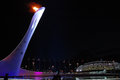 Olympic fire at xxii winter olympic games sochi russia Stock Photos