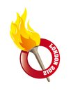 Olympic flame Stock Photography