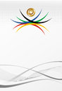 Olympic games gold medal abstract background Royalty Free Stock Photography