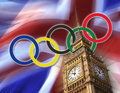 Olympic Games - London - 2012 - British Flag Royalty Free Stock Photo
