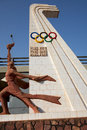 Olympic games sculpture in the city of bamako in mali Stock Photo
