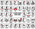 Olympic Games Sport Icons Royalty Free Stock Photo